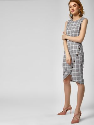 KOOVS Check Print Shift Dress