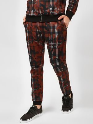 KOOVS Abstract Camo Checkered Joggers