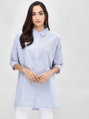 Cover Story Striped Poplin Shirt
