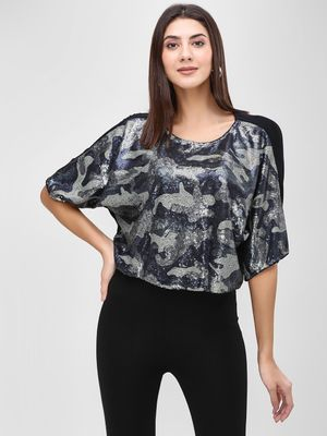 Cover Story Velvet Embellished Blouse