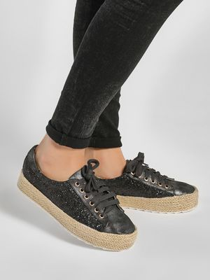 Happy Feet Stackable Glitter Trainers