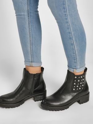 Happy Feet Stud & Diamante Embellished Boots