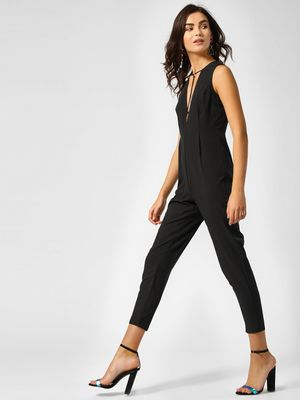 Lola May Plunge V-Neck Jumpsuit