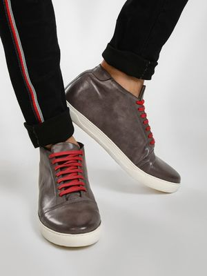 KOOVS Contrast Lace Up Boots