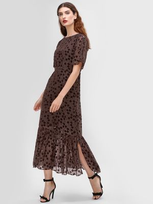 Cover Story Textured Maxi Dress