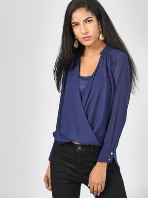 SCULLERS FOR HER Plunge V-Neck Top