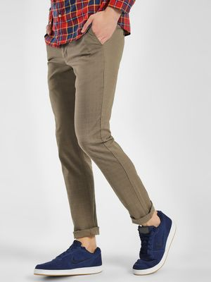 SCULLERS Yarn Dyed Windowpane Check Trousers