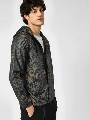 Converse Camo Print Hooded Jacket