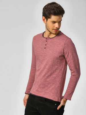Indigo Nation Long Sleeves T-Shirt With Button Detail