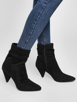 KOOVS Conical Heel Ankle Boots