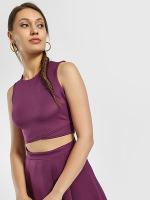 KOOVS Sleeveless Crop Top