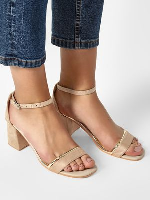 My Foot Couture Ankle Strap Block Heeled Sandals