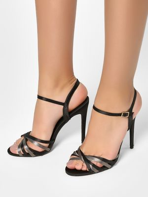 My Foot Couture Two-Tone Strap Heeled Sandals