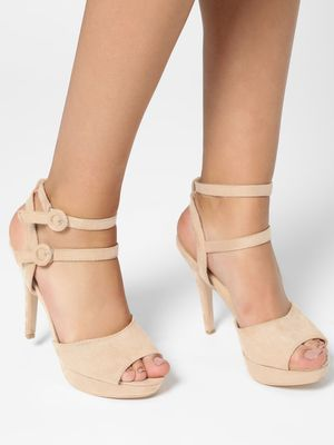 My Foot Couture Broad Strap Suede Heeled Pumps