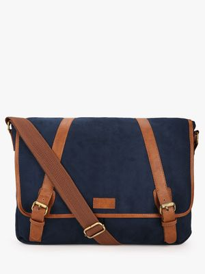 KOOVS Suede Finish Laptop Bag