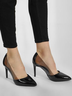 New Look Pointed Perspex Panel Pumps