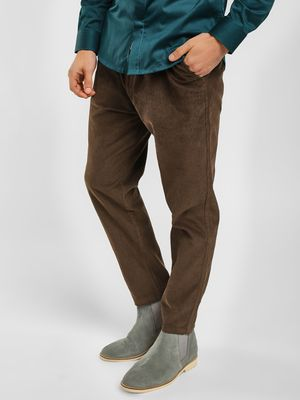 Spring Break Corduroy Slim Fit Cropped Trouser