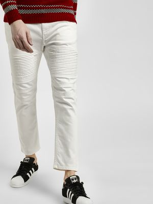 Blue Saint Overdyed Biker Panel Slim Jeans