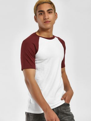 KOOVS Muscle Fit Raglan T-Shirt