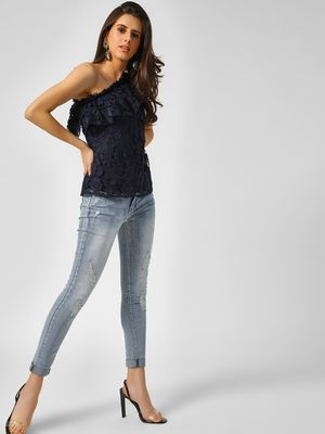 Cover Story Distressed & Washed Skinny Jeans