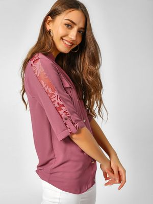 Cover Story Casual Lace Detail Shirt