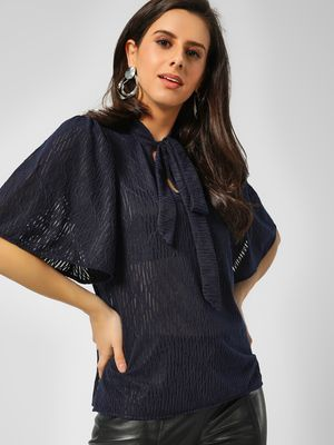 Cover Story Self-Design Tie Knot Blouse