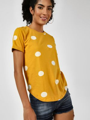 Cover Story Polka Dot Print T-Shirt