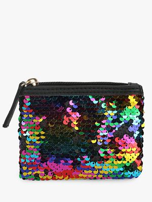 New Look Rainbow Sequins Pouch