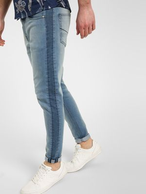 K Denim KOOVS Side Panel Washed Skinny Jeans