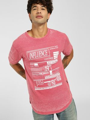KOOVS Influence Burnout T-Shirt