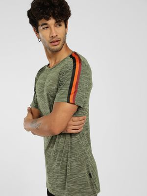 KOOVS Melange Side Tape T-Shirt