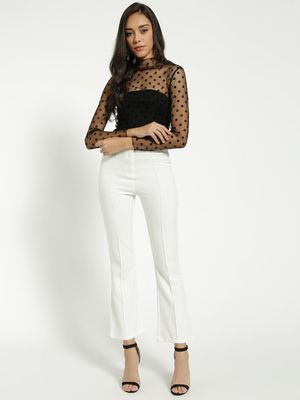 KOOVS High-Waist Flared Trousers