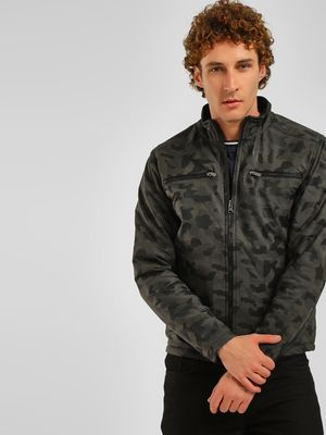 Lee Cooper Camo Print Reversible Jacket