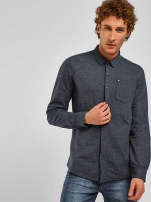Lee Cooper Casual Washed Denim Shirt