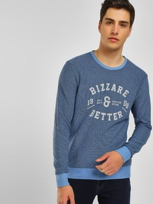 Lee Cooper Placement Print Ribbed Pullover