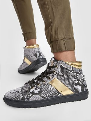 Tiktauli Snake Print Hi-Top Shoes