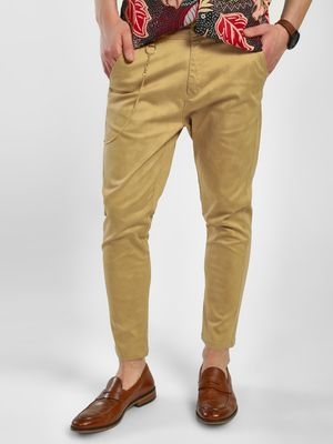 KOOVS Textured Skinny Fit Chinos