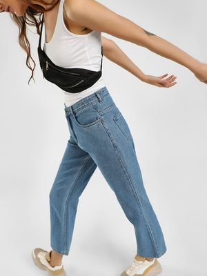 K Denim KOOVS Straight Fit Boyfriend Jeans