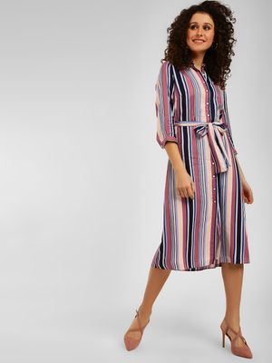 Cover Story Striped Shirt Dress
