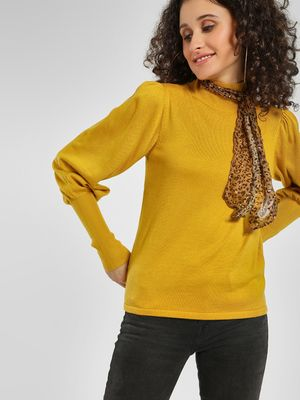 Cover Story Turtleneck Mutton Sleeve Pullover