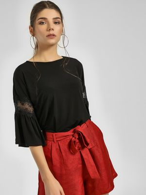 Cover Story Lace Bell Sleeve Top