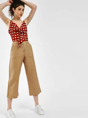 KOOVS Basic Button-Front Culottes