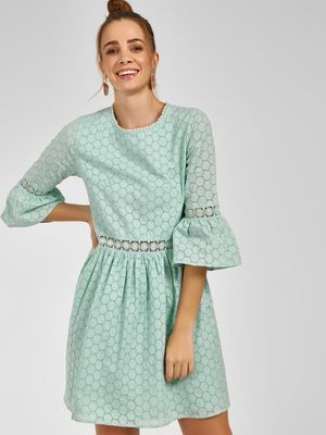 KOOVS Broderie Lace Border Shift Dress