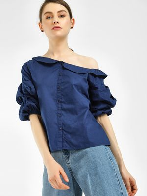 Noble Faith One Shoulder Poplin Shirt