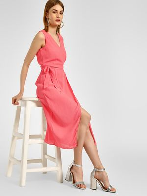 Cover Story Front Wrap Midi Dress