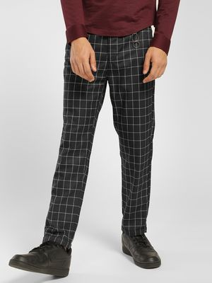 KOOVS Grid Check Tapered Trousers