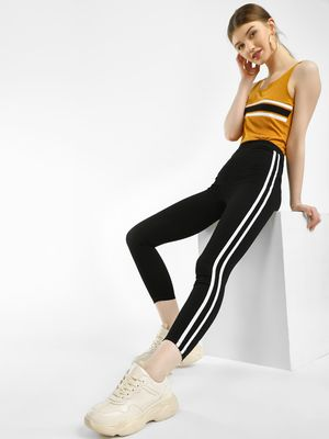 Iris Side Stripe Cropped Skinny Jeggings