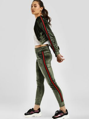 Missi Clothing Side Stripe Velour Tracksuit