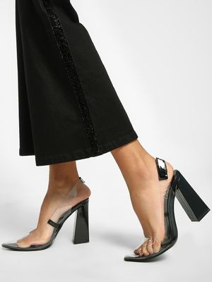 Intoto Patent Clear Block Heel Pumps