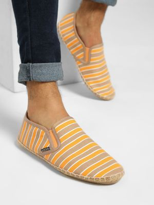 KOOVS Colour Block Stripe Espadrilles